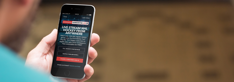 NHL GameCentre Live – Website and Mobile Apps – David Porretta